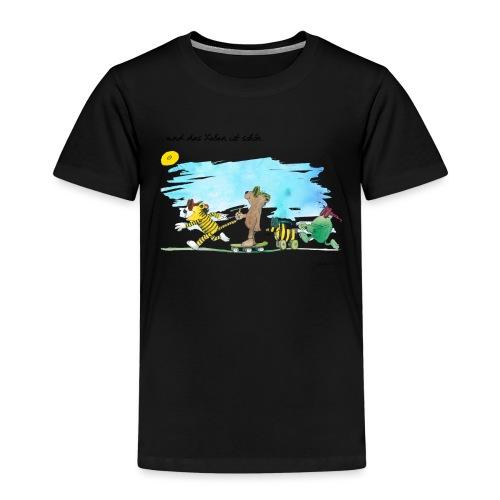 Janosch Tiger Und Freunde Das Leben Ist Schön - Kinder Premium T-Shirt