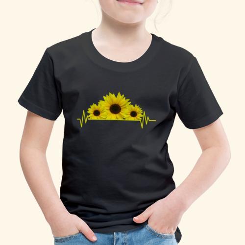 Sonnenblumen Herzschlag Sonnenblume Blumen Blüten - Kinder Premium T-Shirt