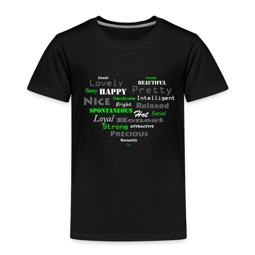 hart met tekst groot.png - Kinderen Premium T-shirt