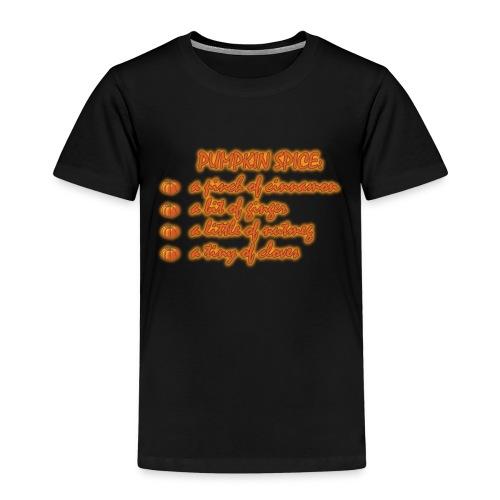 PumpkinSpiceRecipe - Maglietta Premium per bambini
