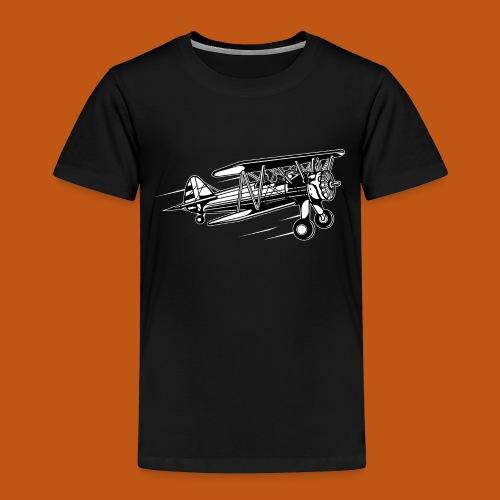 Flieger / Airplane 01_schwarz weiß - Kinder Premium T-Shirt