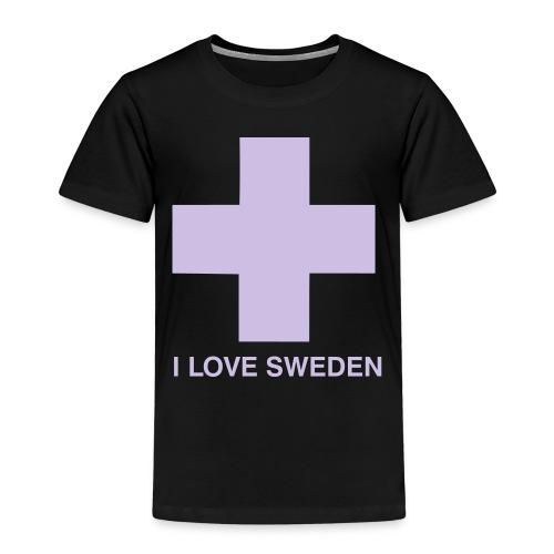 I LOVE SWEDEN - Kinder Premium T-Shirt