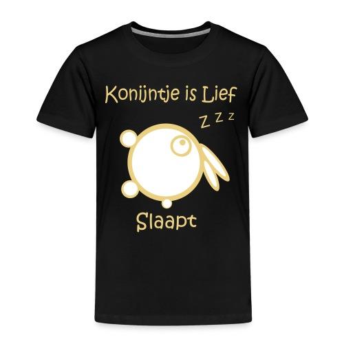 konijntje is lief slaapt - Kinderen Premium T-shirt