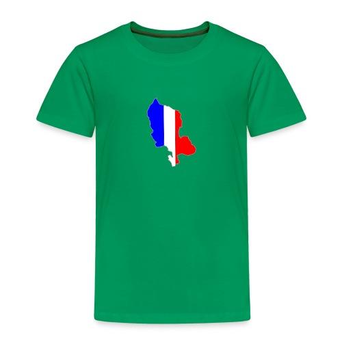 Carte Territoire de Belfort bleu blanc rouge - T-shirt Premium Enfant