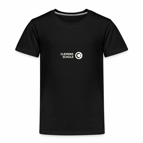Kinder Premium T-Shirt - Schule,Clemens Schule,weiß,CLEMENS,Logo