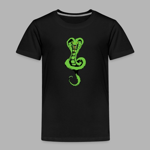 Schlange groß vorne - Kinder Premium T-Shirt