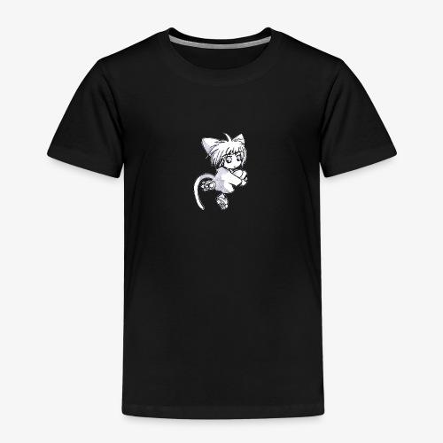 Puccina Matita BN (style manga, grezzo) - Maglietta Premium per bambini