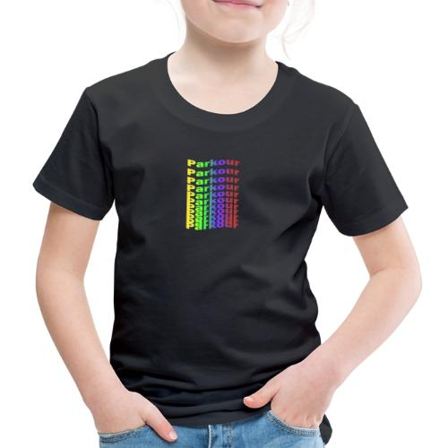 Parkour rainbow - Børne premium T-shirt