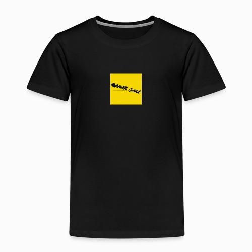 Gamer Jake black on gold logo shirt - Kids' Premium T-Shirt