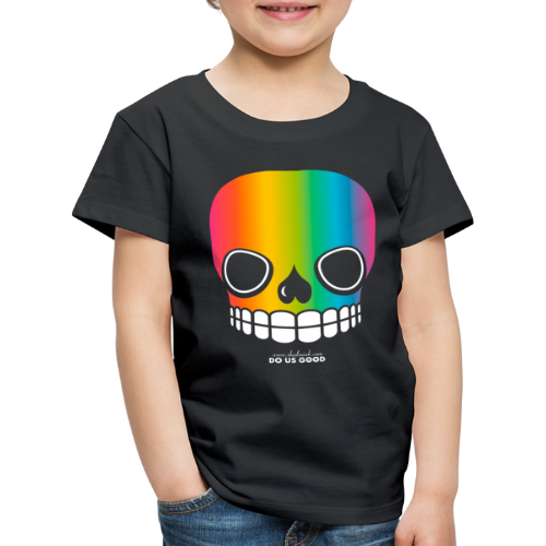 JUST SKULL rainbow - Lasten premium t-paita