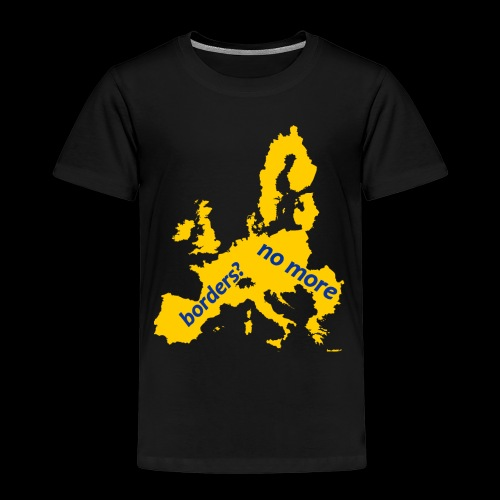Borders? no more Yellow europe - Maglietta Premium per bambini