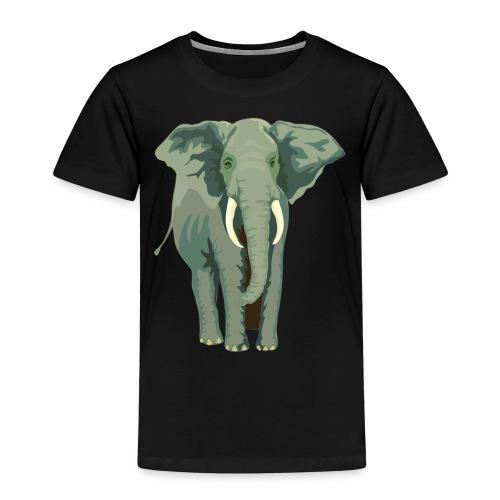 Elephant Illustration - Kinder Premium T-Shirt