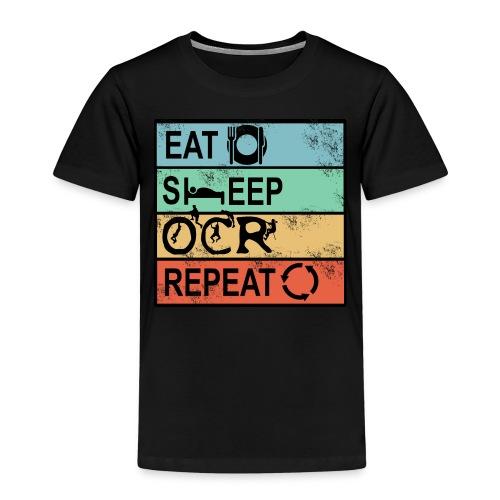 Hindernislauf Eat Sleep OCR Repeat Männer Laufen - Kinder Premium T-Shirt