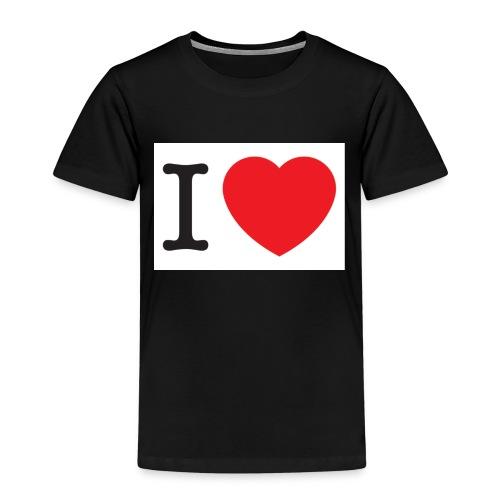 i love illustration with heart - Kinderen Premium T-shirt
