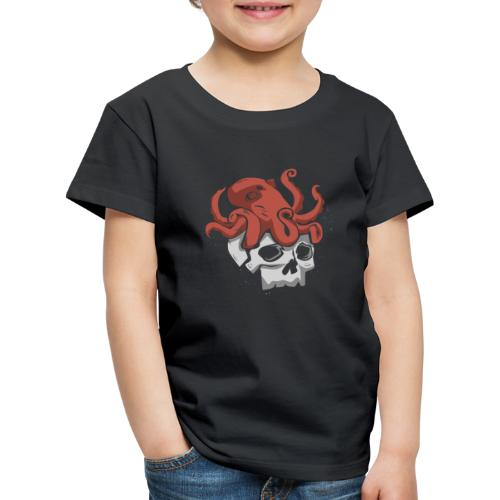Skull and Octopus Heavy Metal Fans Novelty Gift - Kids' Premium T-Shirt