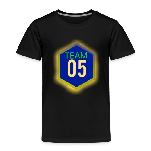 Gult lysene team05 logo - Børne premium T-shirt