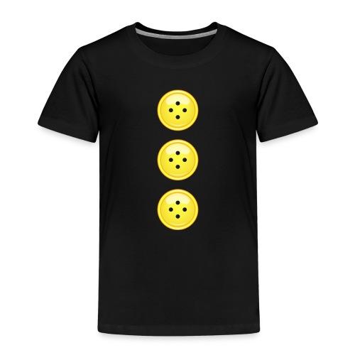 3 gelbe Knöpfe Knopf Buttons modische Accessoires - Kids' Premium T-Shirt