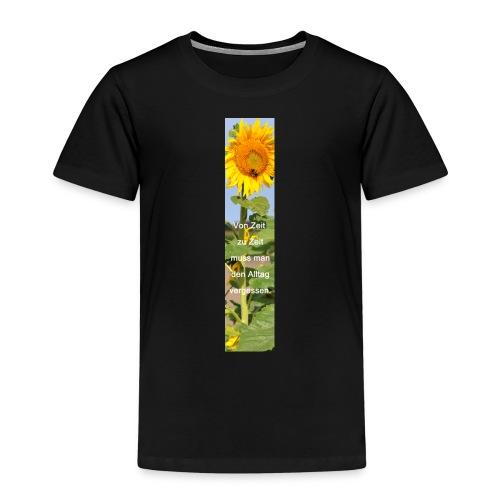 Riesen-Lesezeichen Sonnenblume + Spruch - Kinder Premium T-Shirt