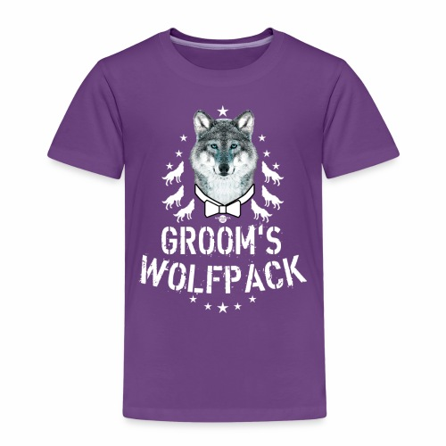 164 Wolf JGA GROOM'S Wolfpack - Kinder Premium T-Shirt