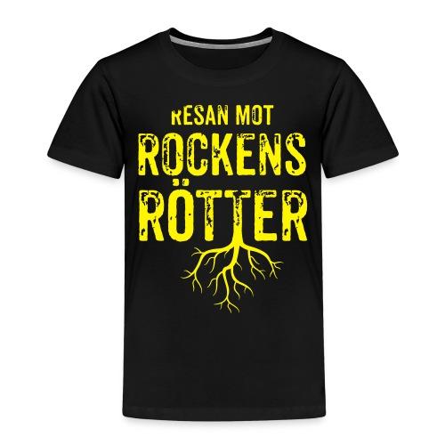 Fotbollströja svart. Resan mot rockens rötter. - Premium-T-shirt barn