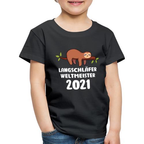 Faultier Spruch Schlafen Schlafshirt Geschenk - Kinder Premium T-Shirt