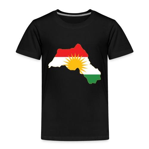 Kurdistan Flag Map - Kinder Premium T-Shirt