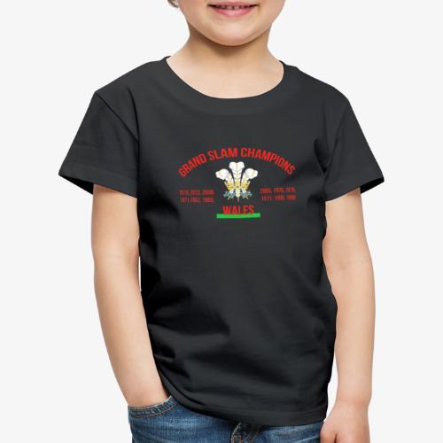 Wales Grand Slam - Kids' Premium T-Shirt