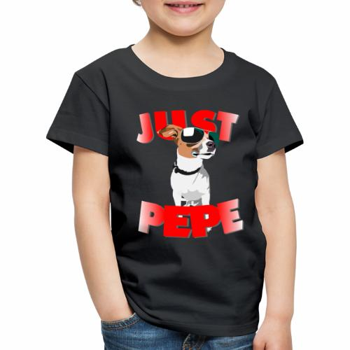 Just Pepe Hund Merch - Kinder Premium T-Shirt