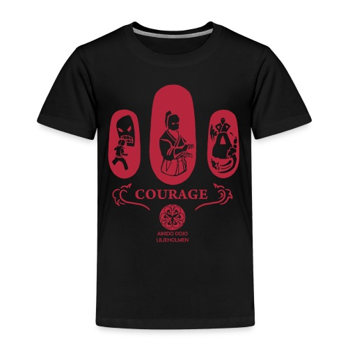 Courage_röd_ADL_STOR - Kids' Premium T-Shirt