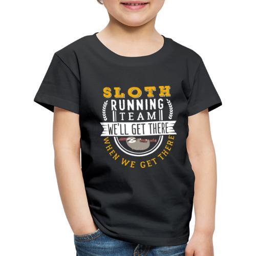 Sloth Running Team - Kinder Premium T-Shirt