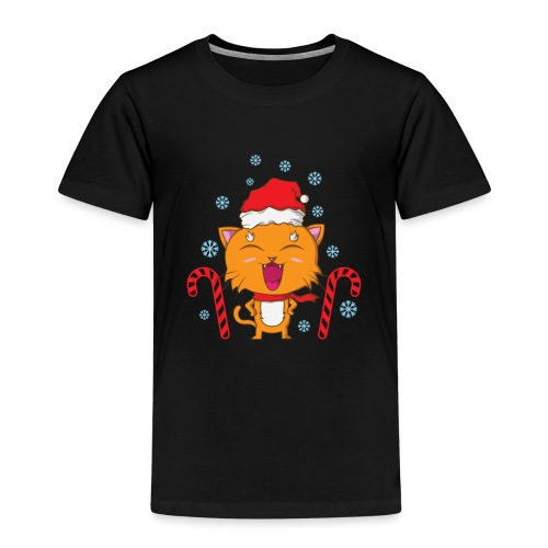 Weihnachtskatze - Kinder Premium T-Shirt