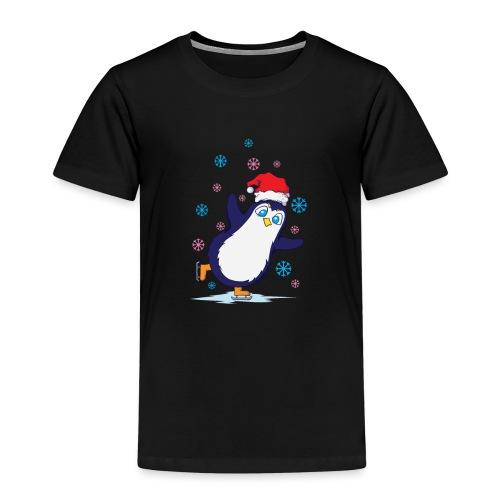 Weihnachten Pinguin Schlittschuh laufen - Kinder Premium T-Shirt