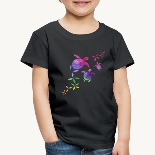 Schildkröten im Regenbogen - Kinder Premium T-Shirt
