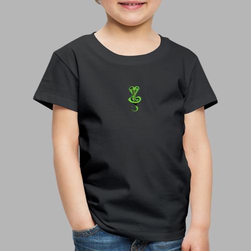 Schlange klein vorne - Schrift hinten - Kinder Premium T-Shirt