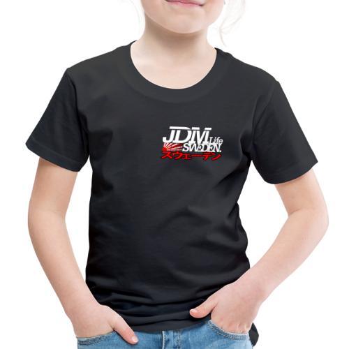 JDM Life Sweden vit - Premium-T-shirt barn