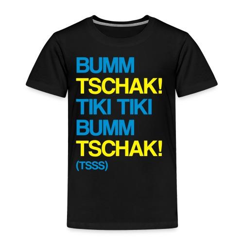 Bumm Tschak Tsss zweifarbig - Kinder Premium T-Shirt
