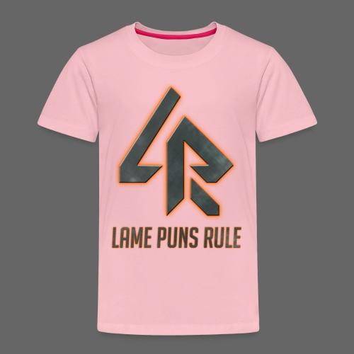 Lame Puns Rule: Logo - Kids' Premium T-Shirt