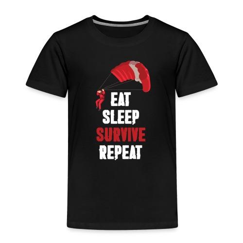Eat - sleep - SURVIVE - repeat! - Koszulka dziecięca Premium