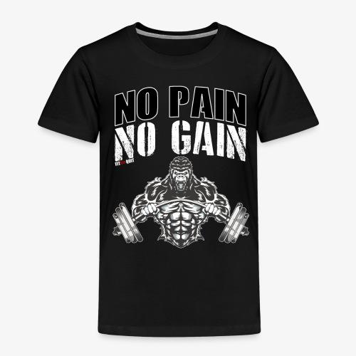 No pain no gain para entrenar en el gimnasio duro - Camiseta premium niño