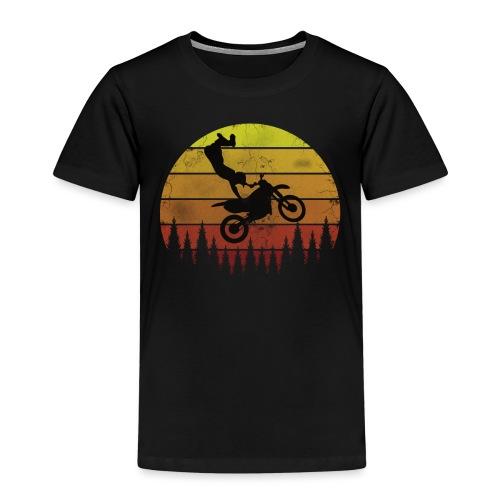 Motocross Motocross Freestyle - Vintage Retro - Kinder Premium T-Shirt