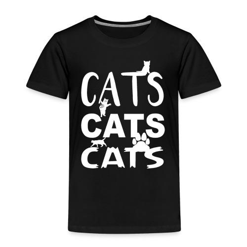 cats cats cats Weiss - Kinder Premium T-Shirt