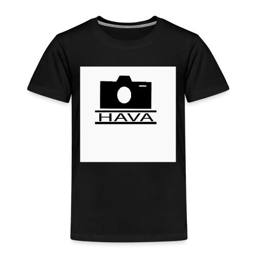 HAVA loggo svart vit - Premium-T-shirt barn