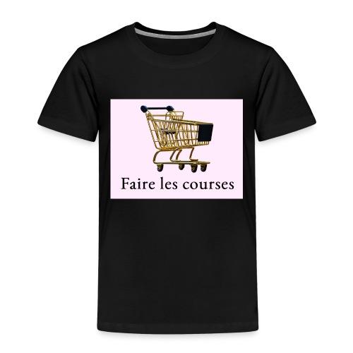 Edler goldener Einkaufswagen mit Schriftzug - Kinder Premium T-Shirt