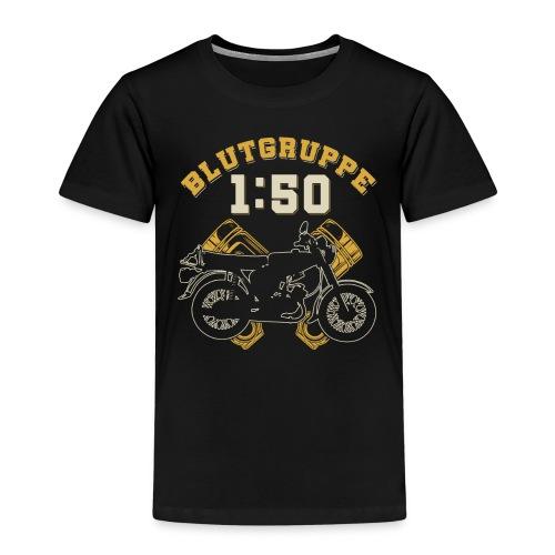 Blutgruppe 1:50 S51,Benzin,Ostalgie, Simson DDR - Kinder Premium T-Shirt