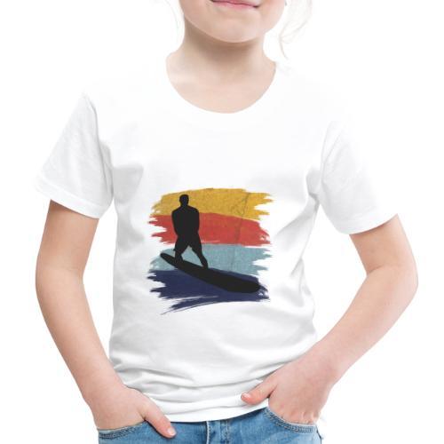 Wellenreiten Retro-Stil, Vintage - Kinder Premium T-Shirt