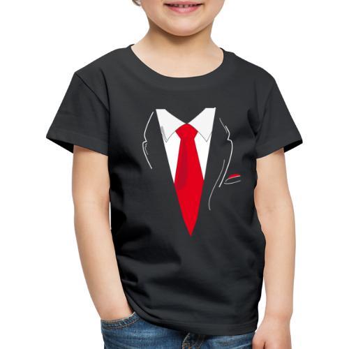 Traje y Corbata - Camiseta premium niño