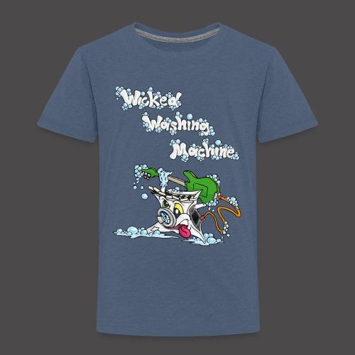Wicked Washing Machine Cartoon and Logo - Kinderen Premium T-shirt