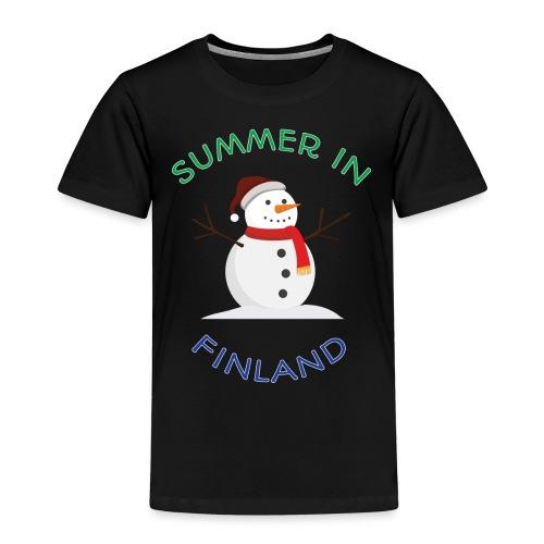 Summer in Finland - Lasten premium t-paita