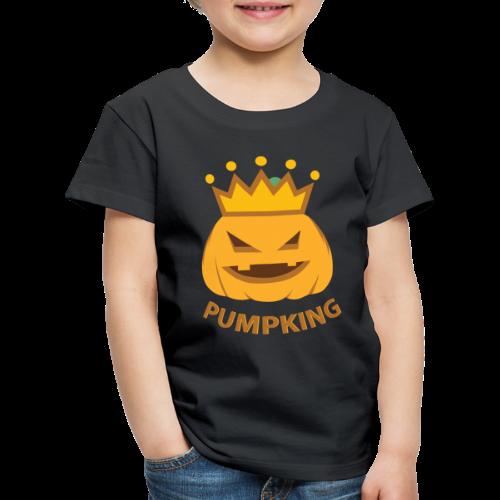 Kürbis König   Kürbisgesicht Krone Halloween - Kinder Premium T-Shirt