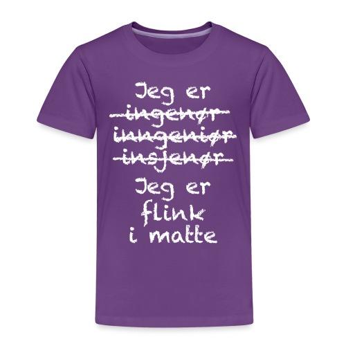 Flink i matte - Premium T-skjorte for barn